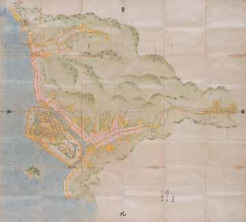 鳥羽城之絵図 拡大図