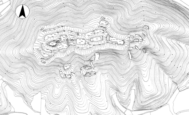 五箇篠山城跡測量図