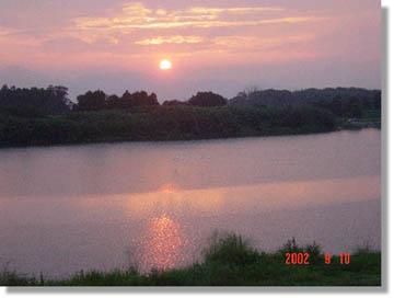 櫛田川の夕陽