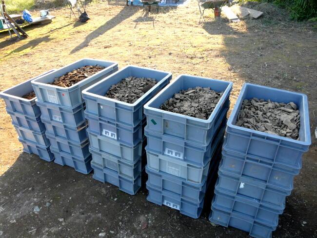 1日で24箱もの土器が出土!それにしても大量です…