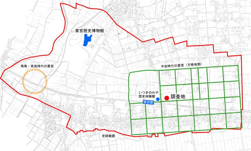 調査区位置図