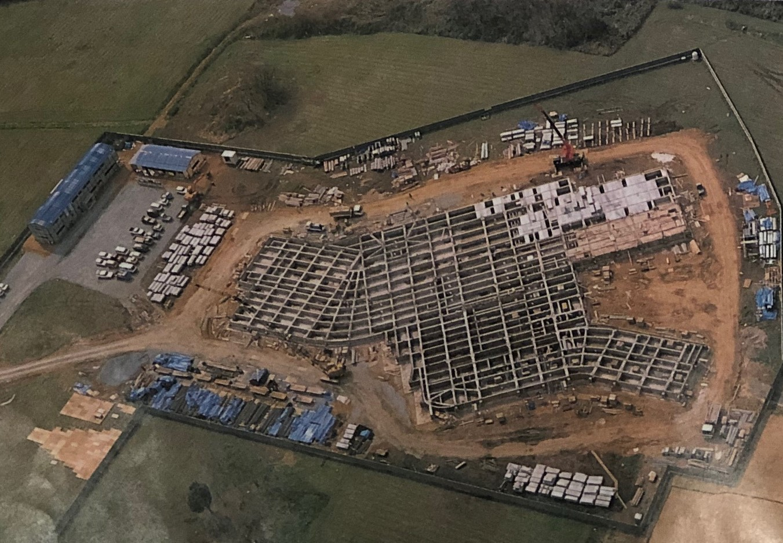 博物館の基礎を造っている時の航空写真です
